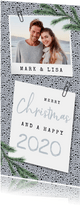 Weihnachtskarte & Neujahrskarte mit Foto und Tannenzweigen