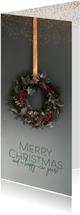 Weihnachtskarte Weihnachtskranz klassisch