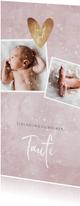 Winterliche Einladung zur Taufe rosé mit Foto