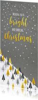 Zakelijke kerst bomen mix op marmer en beton