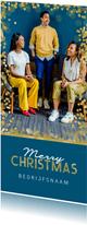 Zakelijke kerstkaart goud confetti foto internationaal