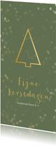 Zakelijke kerstkaart gouden kerstboom - Een gouden kerst