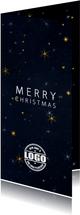 Zakelijke kerstkaart met logo en sterrenhemel