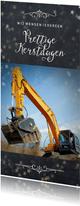 Zakelijke kerstkaart voor een bouw- of metaalbedrijf