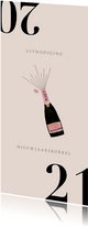 Zakelijke nieuwjaarskaart met uitnodiging voor borrel