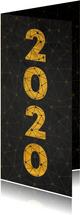 Zakelijke nieuwjaarskaart verbinding thema gouden 2020