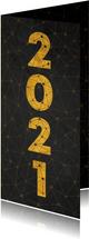 Zakelijke nieuwjaarskaart verbinding thema gouden 2021