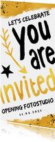 Zakelijke uitnodiging hip en feestelijk voor een opening