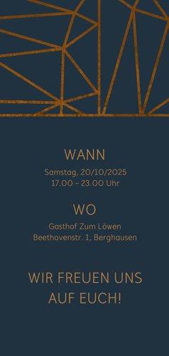 Einladungskarte 40. Hochzeitstag geometrisch 3