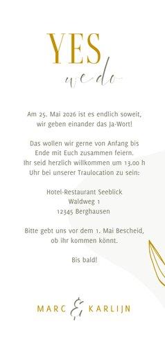Einladungskarte Hochzeit elegant & abstrakt 3