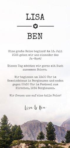 Einladungskarte zur Hochzeit Landschaft & eigenes Foto 3