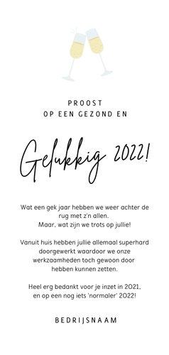 Grappige nieuwjaarskaart champagne - knallen in 2022 3