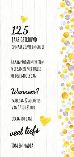 Jubileumkaart uitnodiging champagne 3