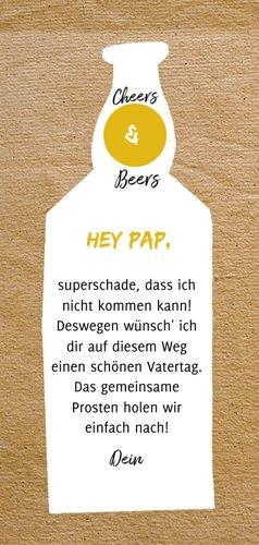 Karte zum Vatertag mit Bierflasche 3