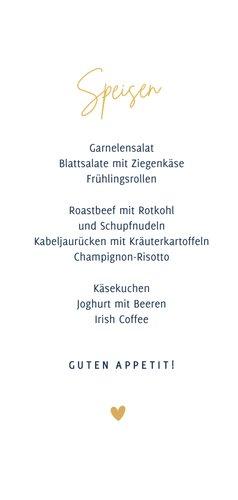 Menü- und Getränkekarte Hochzeit klassisch Dunkelblau 3