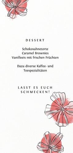 Menuekarte zur Konfirmation Blüten und Aquarell 3