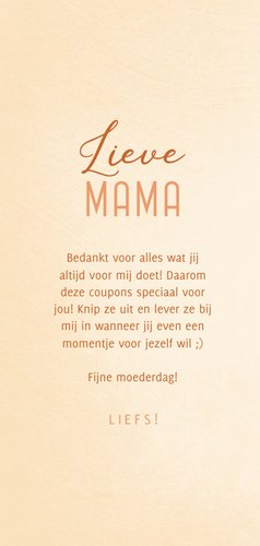 Moederdagkaart uitknipbare Mama's coupons 3