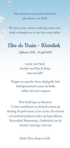 Rouwkaart lente bloesem 3