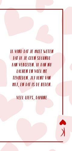 Valentijnskaart You are the king of my heart met hartjes 3