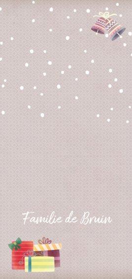 Kerstkaart langwerpig beer met muts - BK Achterkant