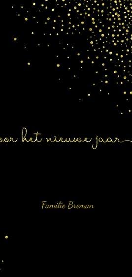 Nieuwjaarskaart 'tweeduizendnegentien' met glittereffect 3