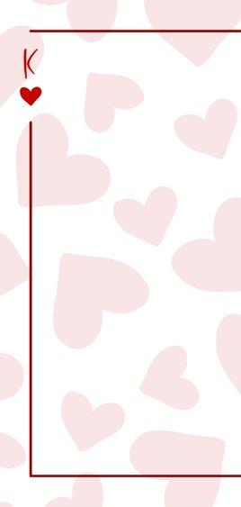 Valentijnskaart You are the king of my heart met hartjes 2