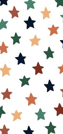 Vrolijke nieuwjaarskaart met gekleurde sterren 2