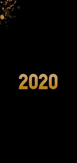 Aarde als kerstbal 2020 zwart en goud 2