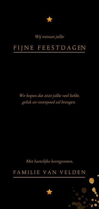 Aarde als kerstbal 2020 zwart en goud 3