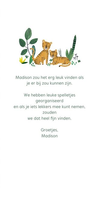 Babyshower tijger en dieren jungle thema 3