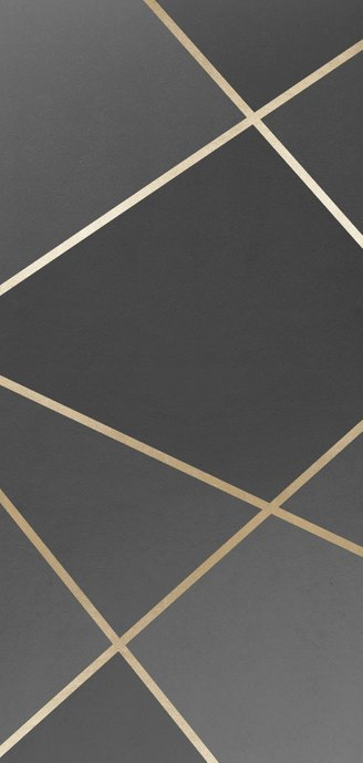 Bedankkaart geometrisch patroon grijs met foto Achterkant