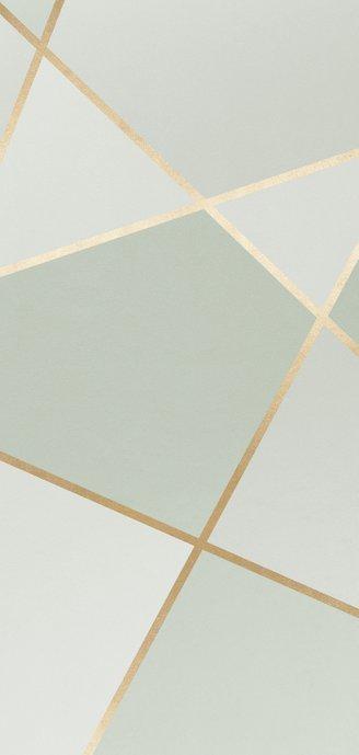 Bedankkaart geometrisch patroon groen met foto Achterkant