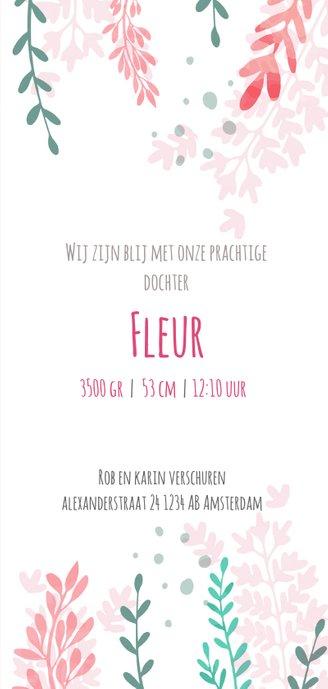 Bloemen geboortekaartje  3