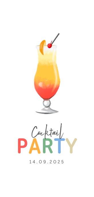 Cocktail kaart menu zomer vrolijk illustraties Achterkant