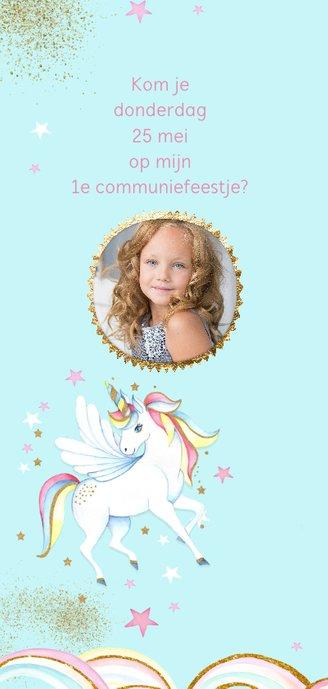 Eerste communie unicorn 2