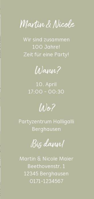 Einladung zum gemeinsamen Geburtstag in Stempellook mit Foto 3