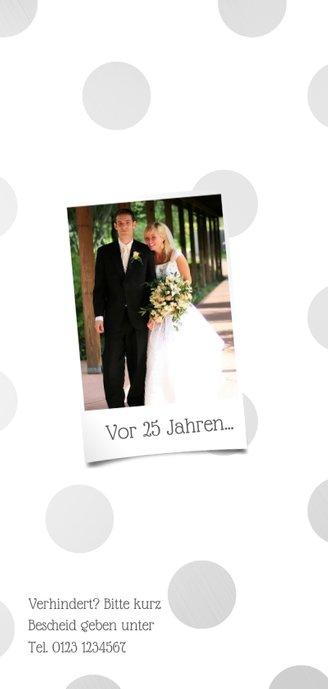 Einladungskarte Silberhochzeit '25 years of love' 2