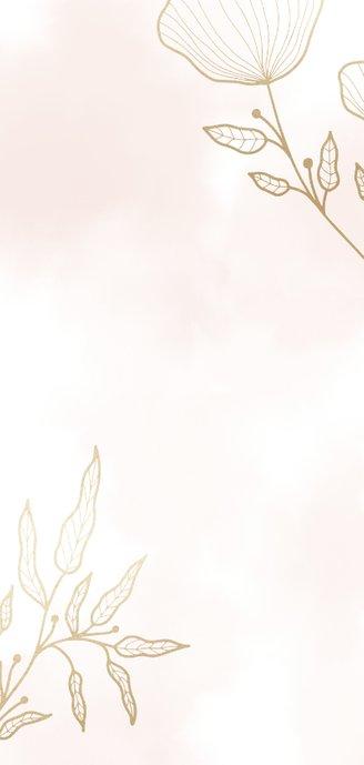 Einladungskarte zur Hochzeit mit eleganten Blumen Rückseite
