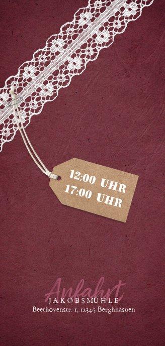 Einladungskarte zur Hochzeitsjubiläum Rubinhochzeit Foto 2