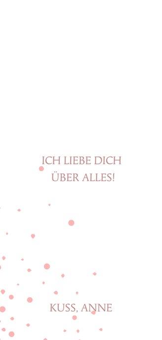 Foto-Liebeskarte LOVE Typografie und rosa Punkte 3