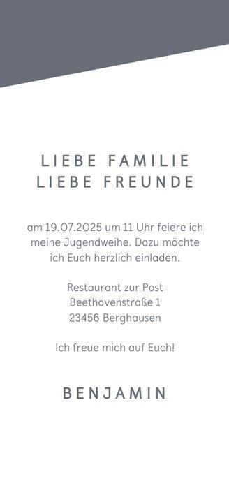 Fotokarte Einladung Jugendweihe 3