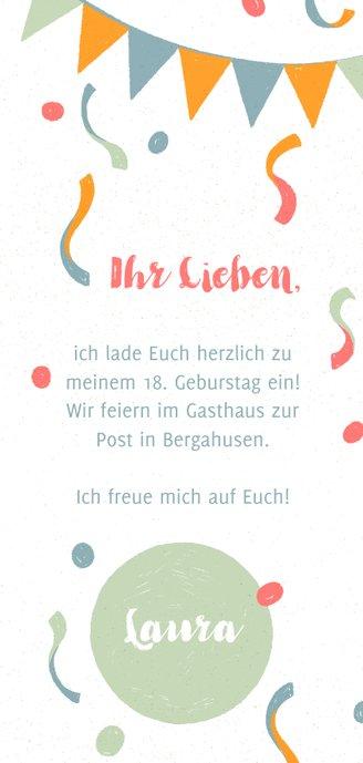 Fröhliche Geburtstagseinladung mit Konfetti 3
