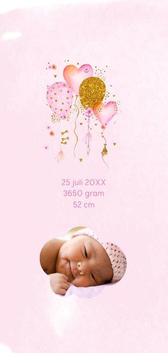 Geboorte meisje ballonnen aquarel 2
