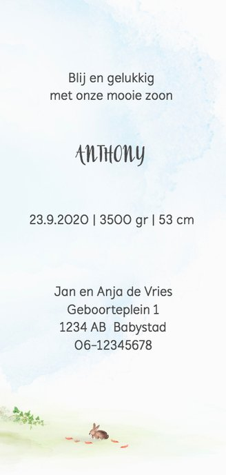 Geboortekaart hertje - herfstboom 3