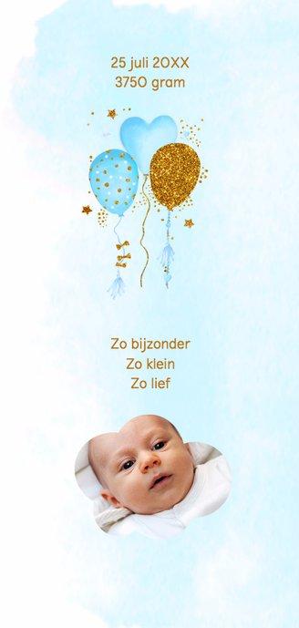 Geboortekaartje aquarel ballonnen jongen 2