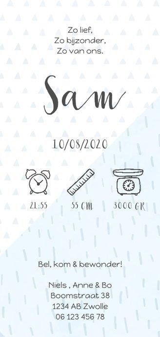 Geboortekaartje confetti en geometrische vormen jongen 3