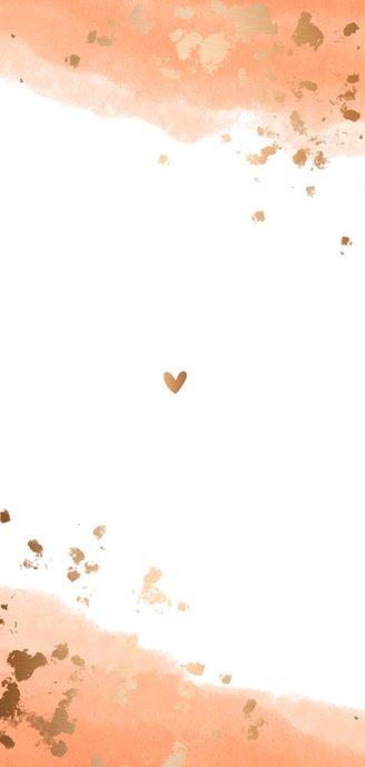 Geboortekaartje meisje gouden spetters waterverf Achterkant