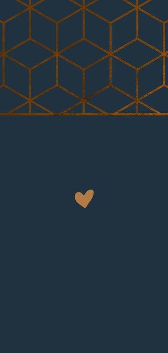 Glückwunschkarte Goldene Hochzeit geometrisch 2