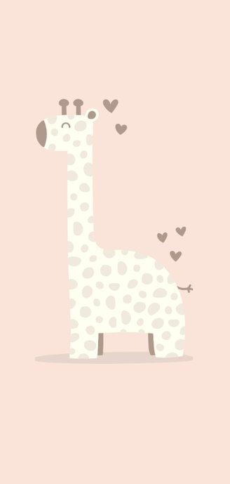 Glückwunschkarte zur Geburt Giraffe rosa Willkommen 2