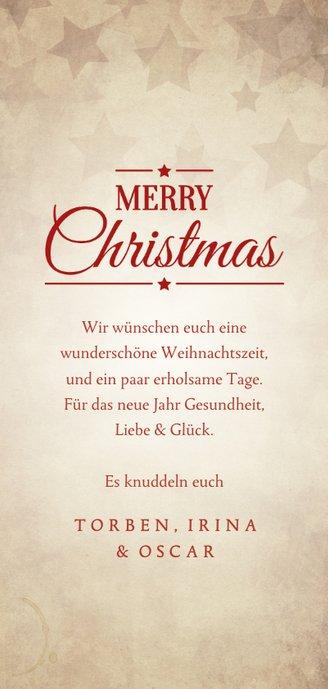 Grußkarte Weihnachten kleiner Weihnachtsmann Rückseite